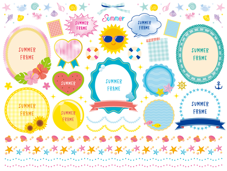 Summer lively decorations set