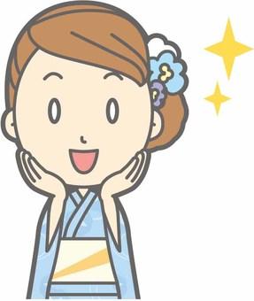 유카타 여성 a- 감격 - 가슴