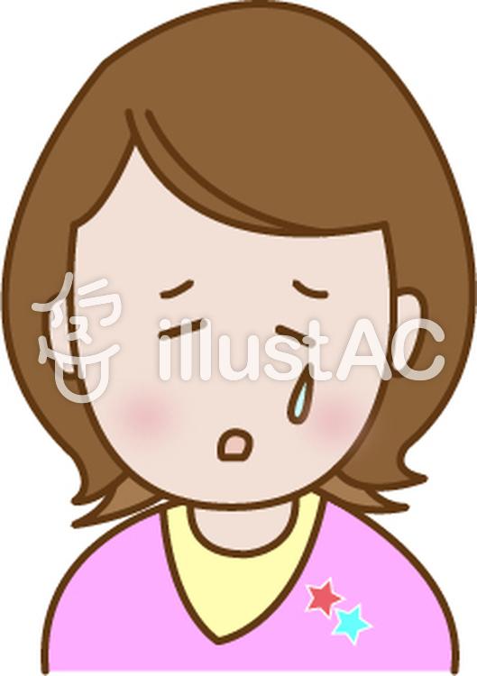 悲しい顔の女性イラスト No 701677無料イラストならイラストac