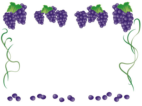 Purple grape frame