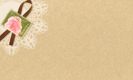 Card Rose Stamp Stamp Ribbon & Lace 4