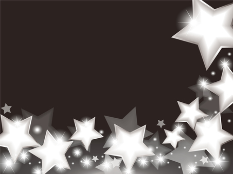 Star Background Silver