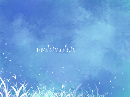 Watercolor background material 01 / blue