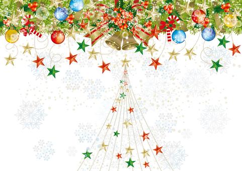 Christmas wreath & snow 23
