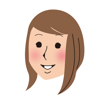 Adult female face