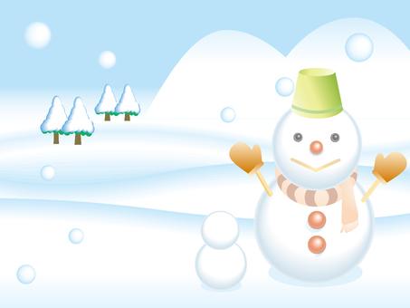 Winter illustration material 05