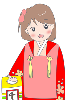 Shichigosan 3-year-old girl