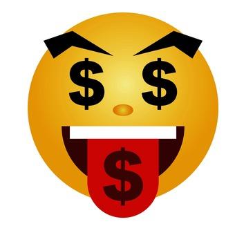Money love emoticon