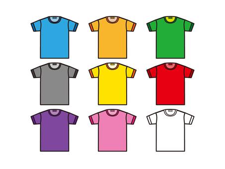T-shirt color set