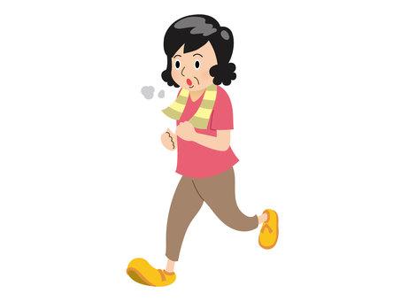 Person / Aunt / Jogging