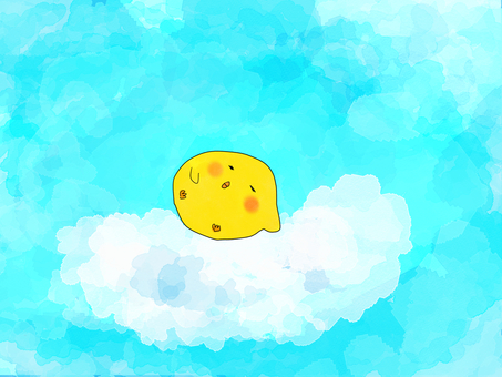 A chick story talks, I want to sleep on the clouds