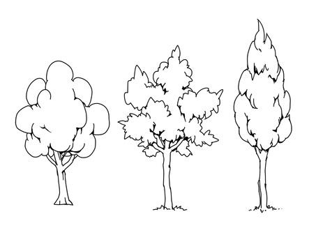 樹(線條圖)