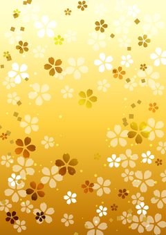 Gold cherry background