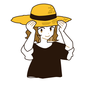 Straw hat women
