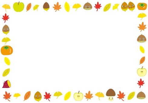 Autumn frame - plain
