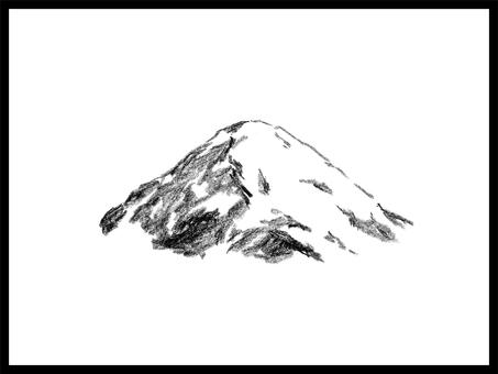 Handwritten illustration of mountain