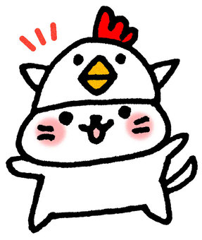 Rooster cat 2