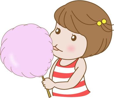 Cotton candy and children