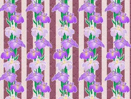 Chiyogami iris (red)
