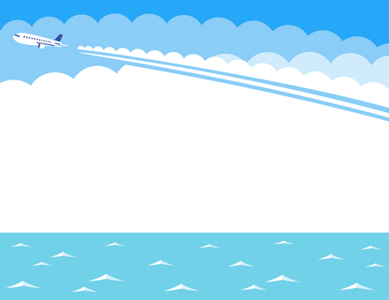 Flight cloud and sea frame (light blue)