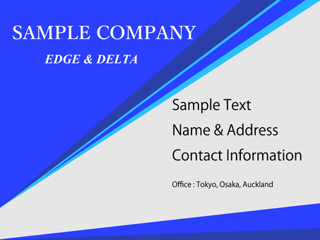 Business template blue triangle edge