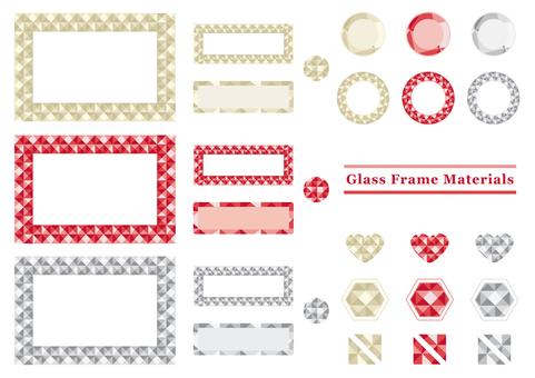 閃閃發光的玻璃框架材料節日