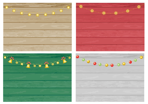 木板(クリスマスカラーオーナメント)