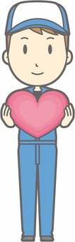 Mechanic male a - heart - whole body