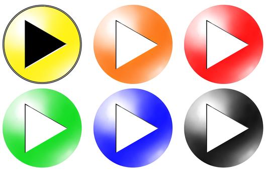 円形アイコンtype2 三角矢印 セット