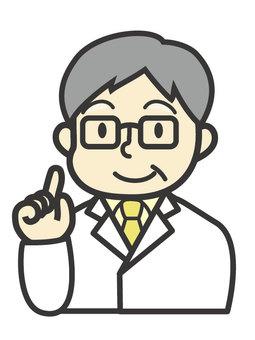 Senior male doctor check