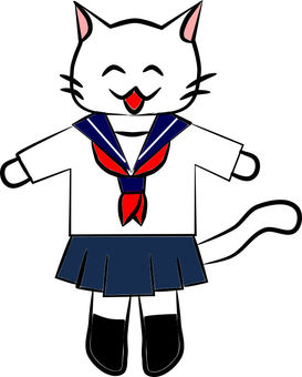 Nicely. Student sailor suit