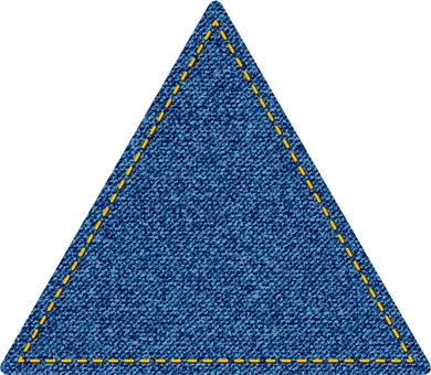 デニム風三角型図形