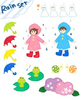Rainy day set