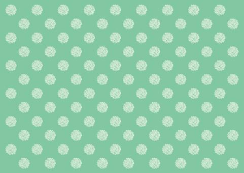 Hand-drawn dot background green