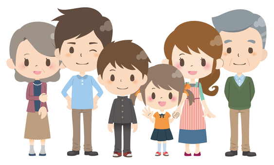 6 people family * normal pose