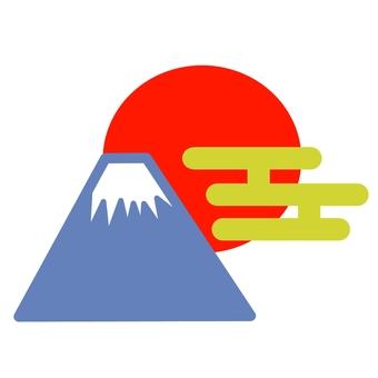 Fuji and first sunrise ②