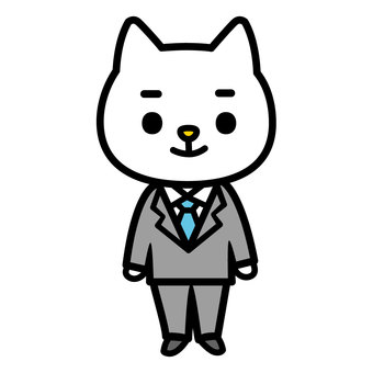 A cat in a suit