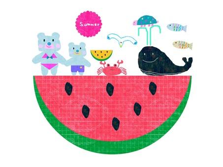 Sea of watermelon
