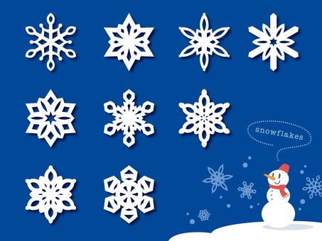 紙切り細工みたいな雪の結晶