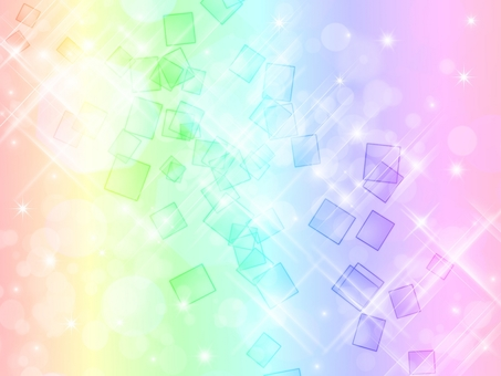 Background · square rainbow color
