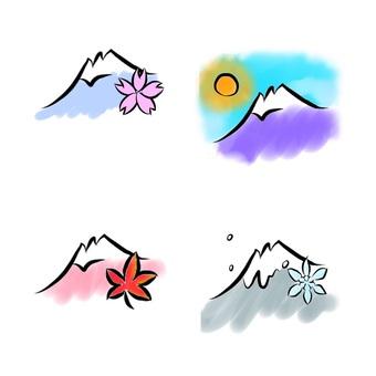 후지산 사계절
