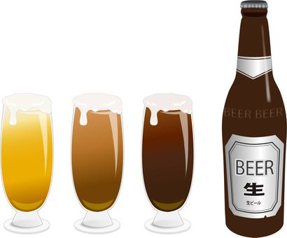 Bottle beer glass set