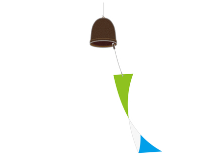 Wind bell in the breeze