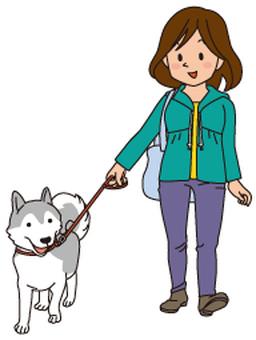 Dog walk 1