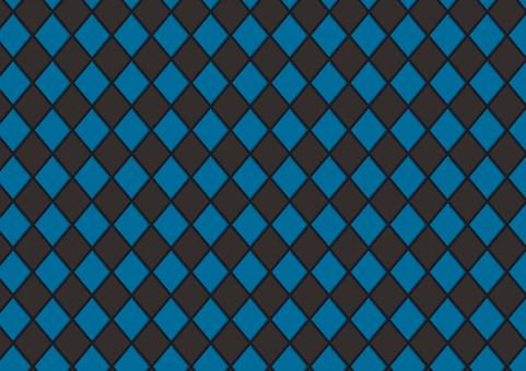 Argyle (black × blue)