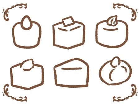 미니 케이크 세트 흰색