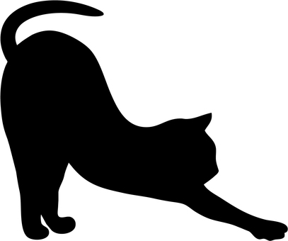 Cat's silhouette (stretching)