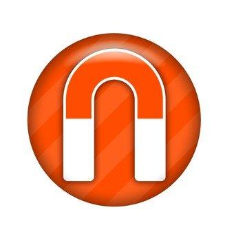 U-shaped magnet symbol