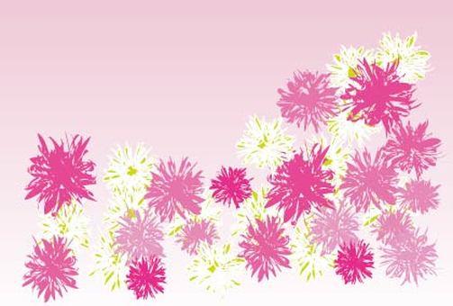 핑크 꽃의 메시지 카드