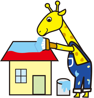 Giraffe paint shop